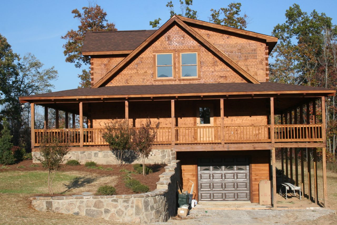 Log homes with wrap around porch quotes for Log cabin house plans with wrap around porches