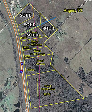 10 Acres on Interstate 45 - Angus, TX - Owner Financing - 5