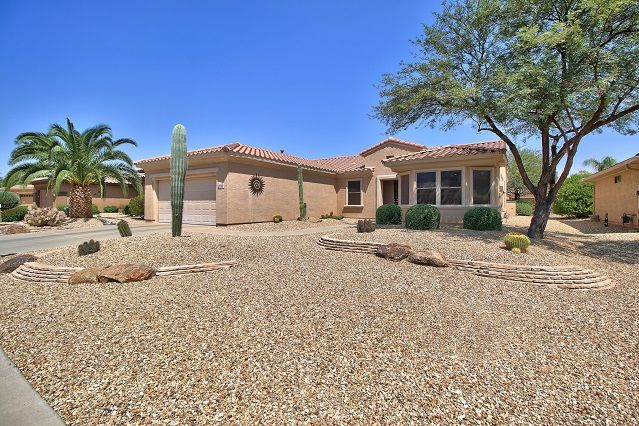 Prime Desirable Sierra Model In Sun City Grand 17418 W Hermosa Home Interior And Landscaping Oversignezvosmurscom